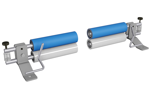 Bowed web spreading rollers